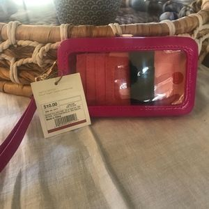 NWT Pink Phone Case Wristlet by Target